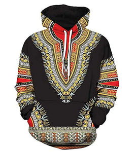 Long Sleeve African Dashiki Men Hoodies With Pockets - kats closet1