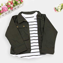 Load image into Gallery viewer, 3 Piece Toddler Girls Warm Long Sleeve T-Shirt Tops+Coat+Pants Set