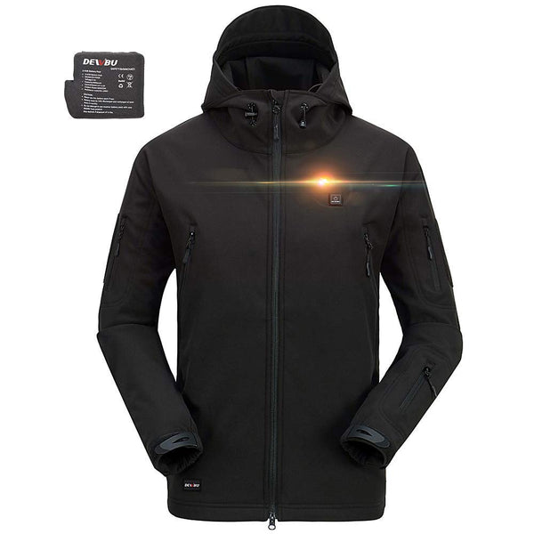 Men's Soft Shell Heated Jacket with Battery Pack DB-12 2.0-12 Months Warranty - kats closet1
