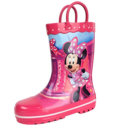 Disney Minnie Mouse Dot Ribbon Pink Rain Boots - kats closet1