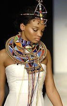 Load image into Gallery viewer, JACKIELYNA'S Fashionable African Ceremonial Wedding Necklace, Choker & Hair Accessory From Kenya … - kats closet1