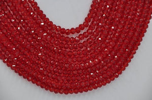 Nigerian Wedding African 10Rows Red Beads Bridal Jewelry Sets LCF060 - kats closet1