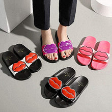 Load image into Gallery viewer, Women Anti-Slip Cute Lip Flat Slide Sandals