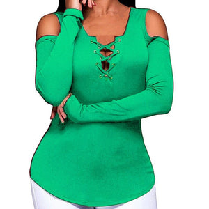 5 Colors Off Shoulder Strapless Long Sleeve Plus Size Blouse - kats closet1