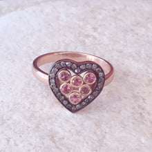 Load image into Gallery viewer, Diamond Heart Pink Tourmaline Ring - kats closet1