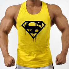 Load image into Gallery viewer, Blood Superman Gym Bodybuilding Stringer Sport Athletic Tank Tops