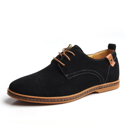Men's Comfortable Flat Lace-up Solid Winter Causal Shoes