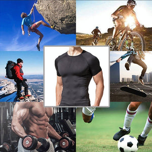 Sport Running Climbing Short Sleeves Tights Bodybuilding  Muscle Compression T-Shirt