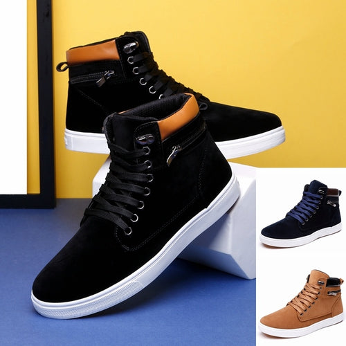 Men's Fashion High Top Sneakers Ankle Boots,