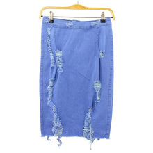 Load image into Gallery viewer, Ripped Distressed Denim Mini Short Skirt - kats closet1