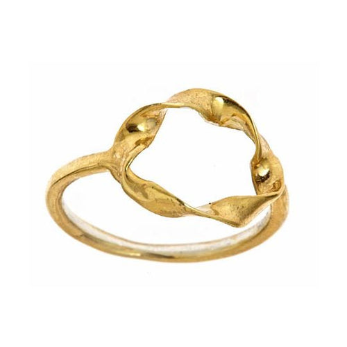 Twisted Circle Ring - kats closet1