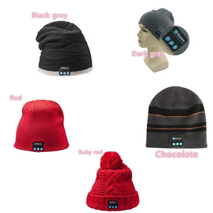Bluetooth Music Soft Beanie Hat with Stereo Headphone Headset Speaker Wireless