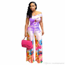 Load image into Gallery viewer, Print Wide-Legged Jumpsuit - kats closet1
