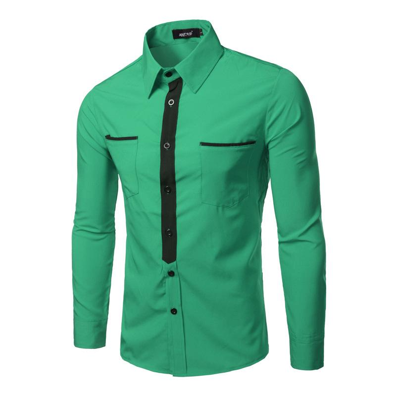 Long Sleeve With Pockets Casual Dress Shirt