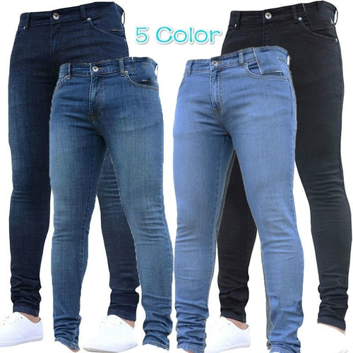 5 Color Super Skinny Slim Fit Denim Jeans - kats closet1
