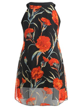 Load image into Gallery viewer, Plus Size Floral Print Sleeveless Longline Blouse