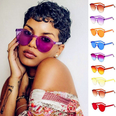 Trendy Cute Luxury Colorful Sunglasses