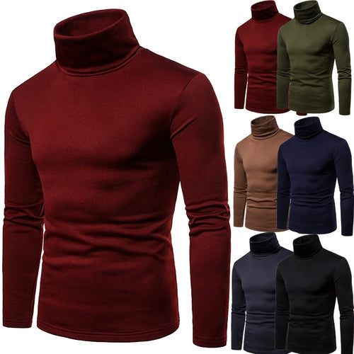Men's Thickening Casual Pullover Turtleneck Top