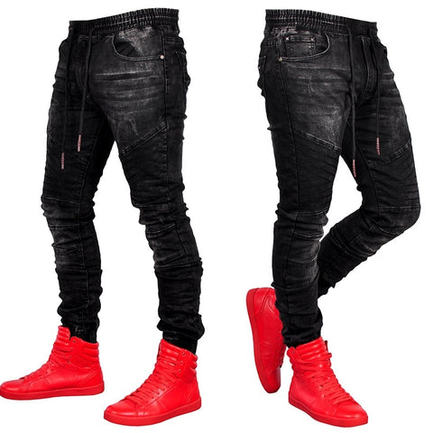 Black Slim Fit Denim Jeans - kats closet1