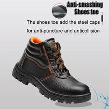 Load image into Gallery viewer, Men's Outdoor Leather Waterproof Hiking Steel Toe Work Safety Boots