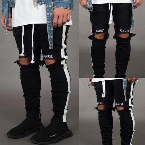 Ripped Skinny Knee Holes Jeans