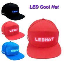 Load image into Gallery viewer, Fashion Cap LED Cool Hat with Screen Light waterproof Smartphone Controlled