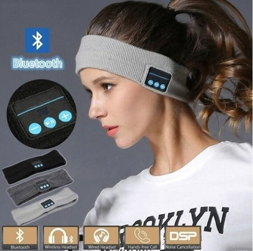 Wireless Bluetooth Sports Headband Headphones Run Gym Sleep Music Headset