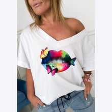 Load image into Gallery viewer, Short Sleeve Fashion Love T-Shirt