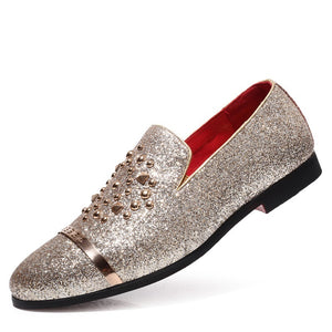 Men Sequin Flats Slip-On Party Shoes