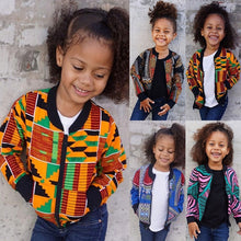 Load image into Gallery viewer, African Style Dashiki Bomber Jacket Unisex Girls and Boys With Pockets