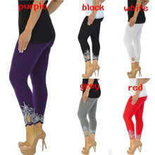 Load image into Gallery viewer, New Womens Plus Size Nouvelle Laser Printing Full Length Leggings - kats closet1