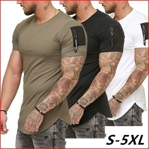 Short Sleeve O-Neck Slim Fit  Muscle T Shirt