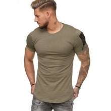 Load image into Gallery viewer, Short Sleeve O-Neck Slim Fit  Muscle T Shirt