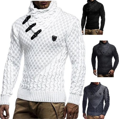 Men's r Knitted Crochet Sweater