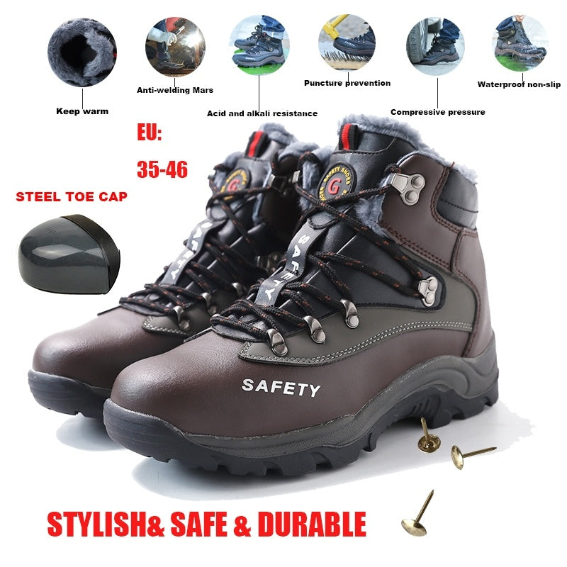 Men Outdoor Tooling Protective Safety Steel Toe Shoes/Boots