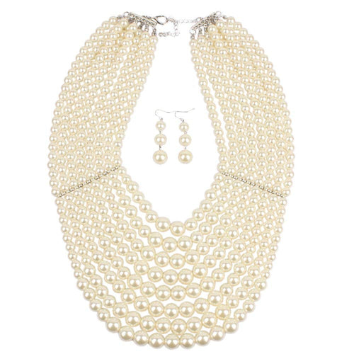 KOSMOS-LI Strand Bead Fashion Necklace for Women Statement Jewelry - kats closet1