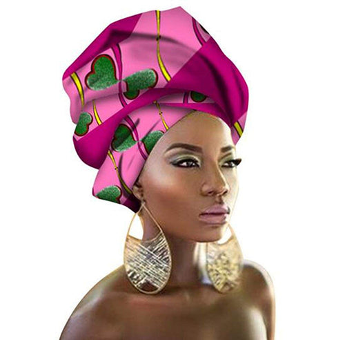 African Traditional Wax Print Head wrap Scarf Tie, Multi-Color Urban Ladies Hair Accessory - kats closet1