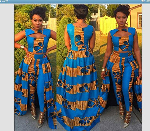 2 Piece Design Print African Clothing - kats closet1