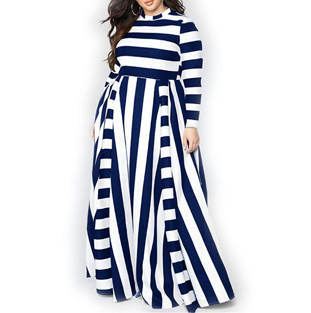 Black And White Striped Maxi Dress With Sleeves Raveitsafe