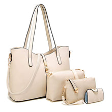 Load image into Gallery viewer, Fashion Synthetic Leather Handbags With Purse And Card Holder