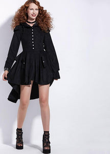 Asymmetric Gothic Lace-Up Vintage Swallow-tailed Overcoat