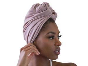 Solid Color Stretch Long Hair Scarf Turban Tie - kats closet1