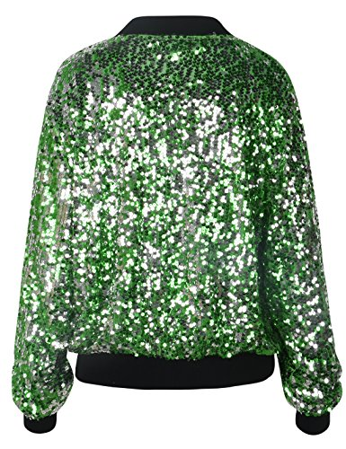 35b0d6e0c52dfb ... PrettyGuide Women s Sequin Blazer Long Sleeve Clubwear Sparkly Bomber  Jacket ...
