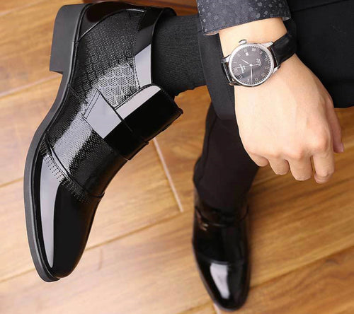 Men's Business Office Patent Leather Formal Boots/ Shoes