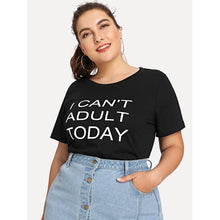 Load image into Gallery viewer, Letter Print T-shirt - kats closet1