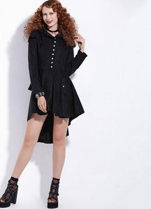 Asymmetric Gothic Lace-Up Vintage Swallow-tailed Overcoat - kats closet1
