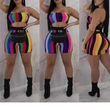 Load image into Gallery viewer, 2 Piece Rainbow Color Sleeveless Set - kats closet1