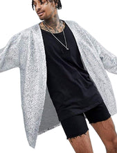 Load image into Gallery viewer, COOFANDY Men's Sequin Cardigan Party Nightclub Hip Hop Stylish Open Front Cape Cloak - kats closet1