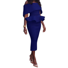 Load image into Gallery viewer, Elegant Hip Ruffles Pencil Sheath Dress - kats closet1