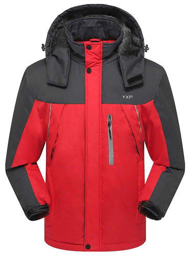 YXP Men's Waterproof Mountain Jacket Fleece Windproof Ski Jacket - kats closet1